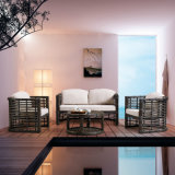 Competitive Price High Quality Patio Rattan Outdoor Furniture Double Sofa for Restaurant