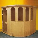 Tempered Glass Door Sector Design Finnish Pine Sauna (M-6004)