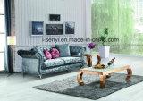 Modern Italian Fabric Living Room Furniture Hotel Reception Stainless Steel Leg Sofa 3 Seat