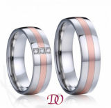 Red Color Steel Ring Polish and Matte Stainless Steel Ring