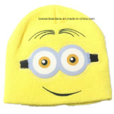 Factory Produce Customized Kids Yellow Acrylic Knit Cuff Winter Hat