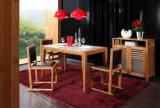 Solid Bamboo Dining Table and Chairs Set