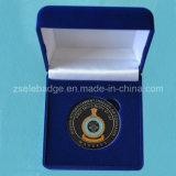 Souvenir Metal Hard Enamel Coin with Velvet Box (Ele-C022)