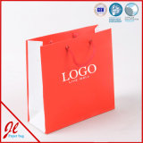 Red Paper Carrier Shopping Bags with Logo Printing