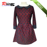 High Quality Dress with PU Neck