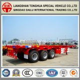 3 Axles 40FT Container Skeleton Semi Trailer Container Chassis