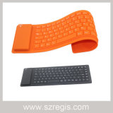 Flexible Silicone Waterproof Mini Wireless Bluetooth Keyboard for Notebook Computer