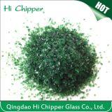 Dark Green Recycled Terrazzo Engineered Stone Glass Chips
