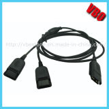 Telephone Headset Qd Cable for Training (Y-QD-01)