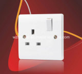 BS 1363 13A 1 Gang Switched Socket Outlet, Double Pole