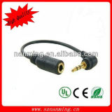 Angled DC3.5 Cable to 2.5 Male to Female with Plated