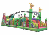 Customized Outdoor Equipment Jungle Theme Inflatable Obstacle Course