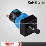 16mm 3A 250V AC Rotary Selector Switch