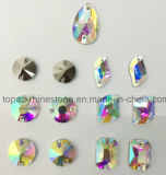 Mixed Shapes Clear Ab Sew-on Flat Back Glass Rhinestones
