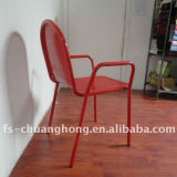 Red Steel Armrest Chair Furniture Used in Hotel (YC-ZG001)