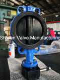Full Rubber Coated Gear Actuated Butterfly Valve with Ce ISO Approvement