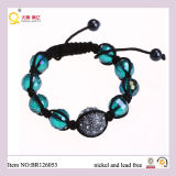 2013 Fashion Crystal Shamballa Ball Green Crystal Bracelet