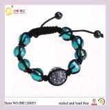 2013 Fashion Crystal Shamballa Ball Green Crystal Bracelet