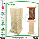 Wooden and Steel MDF Rotating Display Tower Racks