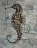 The Sea Horse on Oil Painting