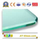 3-19mm Deep Processing Clear Tempered Glass/Toughened Glass with Polished Edge Used for Building, Furniture