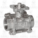 3PC Threaded Ball Valve with Direct Mounting Platform