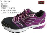 Blck Purple Big Size Women Hiking Shoes