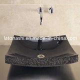 Shanxi Black Granite Sink, Absolute Black Stone Vanity Bathroom Basin