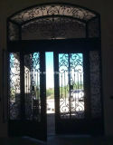 72′′ X 96′′ Forged Iron Double Door with Aquatex Dual Pane Glass