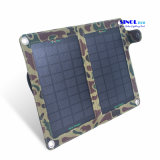7W 5V Output 2-Folding Portable Solar Mobile Phone Charger with USB or DC Output (FSC-07BT)