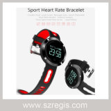 Round Screen Blood Pressure Heart Rate Monitoring Bluetooth Bracelet