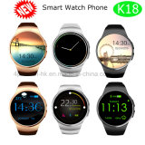 Eleglant Bluetooth Watch Cell Phone with IPS Round Screen K18