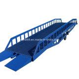 Hydraulic mobile container leveler/cargo dock ramp