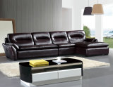 Brown Sofa, L Shape Corner Sofa, Living Room Sofa (985)