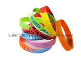 Customized Debossed Printed Silicone Bracelet