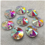 14mm 16mm Decorative Clear Glass Crystal Button
