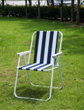 Folding Iron Beach Chair with Spring (MW11004A)