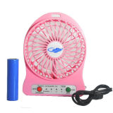 2016 Gift Promotional Mini Portable Fan with LED Light