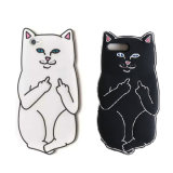 Cartoon Ripndip Lord Nermal Pocket Cat Silicone Rubber Case for iPhone 6/6s/7plus