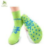Blue Color Anti Slip Knitted Cotton Custom Pilates Yoga Socks