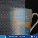 3-6mm Square Pattern Glass with CE & ISO9001