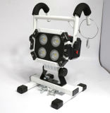 Die-Casting Aluminium Alloy with Rubber Coasting 40W Rechargeable Floodlight with Scaffold Fixed