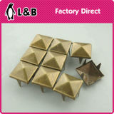 8mm Metal Square Stud with Prong Claw