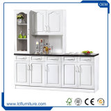 MDF White Color Kitchen Cabinet 5 Doors PVC Kitchen Kabinet Cupboards