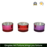 Electroplate Glass Tealight Candle Holder Supplier for Christmas Decor