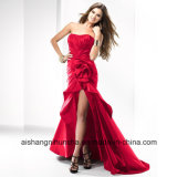 Women Chiffon Sleeveless Backless Evening Party Prom Dress