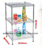 DIY Chrome Metal Wire Kitchen Shelf with NSF Approval