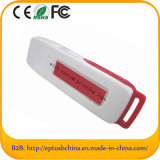 Plastic Red White Slide USB Flash Drive for Promotion (ET609)