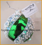 Hand Blown Green Christmas Glass Ball