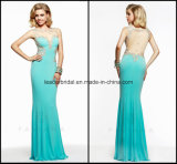 Sheer Ladies Dress Sheath Backless Evening Formal Gowns Ra913